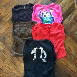 Carter's/Old Navy/Children's place size5 shirt lot